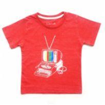 Camiseta Vermelha Nicobaldo - 1 ano - Nicobaldo