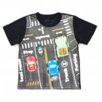 Camiseta Preta Trânsito Alphabeto - 3 anos - Alphabeto