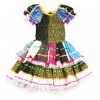 Vestido de Festa Junina - 6 anos - Artesanal