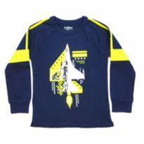 Camiseta Manga Longa Azul OshKosh - 6 anos - OshKosh