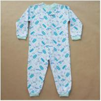Pijama Macacão Branco - 3 anos - Sem marca