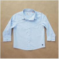 Camisa Manga Longa Azul Zara - 18 a 24 meses - Zara