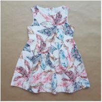 Vestido Folhas Zara - 5 anos - Zara