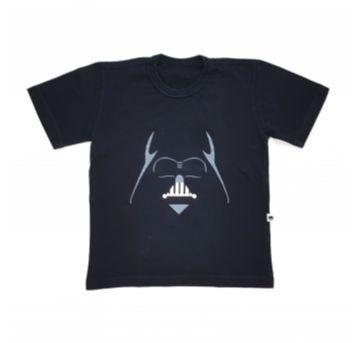 Camiseta Preta Darth Vader Pg&b - 6 anos - Não informada