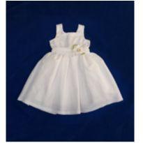 Vestido Branco com Flor - 3 anos - Baby Ju