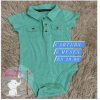 Body verde - 3 a 6 meses - Carter`s