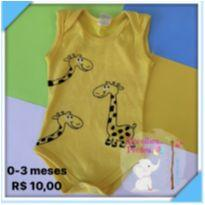 Body girafinha - 0 a 3 meses - Sem marca