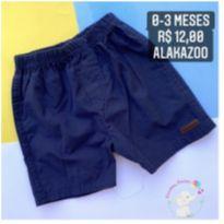 Short azul marinho - 0 a 3 meses - Alakazoo!