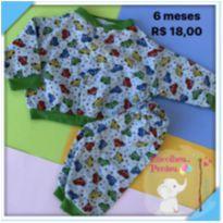 Pijama carrinho - 6 meses - Sem marca