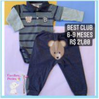 Conjunto urso B - 6 a 9 meses - Best Club