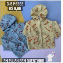 Kit casaco plush - 3 a 6 meses - Sem marca