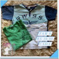 Kit camisa - 8 anos - Sem marca