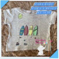 Blusa surf - 6 a 9 meses - Zara