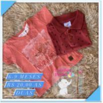 Kit Camisa de manga - 6 a 9 meses - Sem marca
