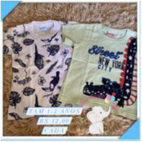 Kit camisas - 18 a 24 meses - Sem marca