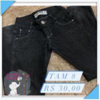 Calça jeans preto - 8 anos - KING BOY