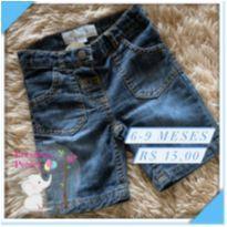 Bermuda jeans - 6 a 9 meses - Baby Club
