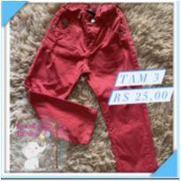 Calça jeans vermelha - 3 anos - Mania Kids