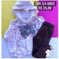Conjunto frio gatinha - 3 anos - Angerô
