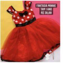 Fantasia minnie - 1 ano - Sem marca
