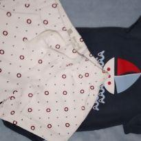 Conjunto body e bermuda - 3 a 6 meses - Baby Club