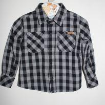 Camisa manga longa xadrez - 9 a 12 meses - Polo Wear