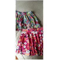 Combo duas saias florais - 10 anos - Animê e Elian