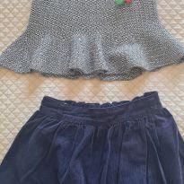 Kit duas saias de inverno - 6 anos - Alakazoo! e Vira e Mexe