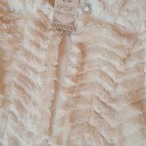 Casaquinho de pêlo Novo - 10 anos - pipoca doce