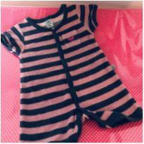 Romper atoalhado - 3 a 6 meses - Hering Baby
