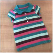 Camiseta Polo - 6 a 9 meses - Tommy Hilfiger