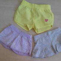 Lotinho shorts e saia - 9 a 12 meses - Teddy Boom