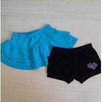 Lotinho saia e shorts - 3 anos - Não informada