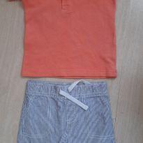Camisa e shorts - 6 meses - Carter`s e Reserva mini