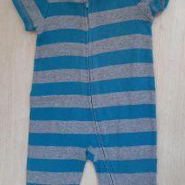Macacão listrado azul - 3 a 6 meses - Baby Gap