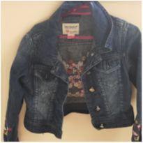 jaqueta jeans flores - 4 anos - Lilica Ripilica