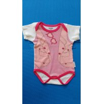 Body Estampa Fashion - 6 a 9 meses - Pimpolho
