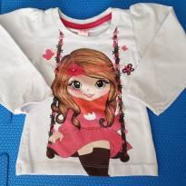 Camiseta Menina no Balanço - 1 ano - T&K