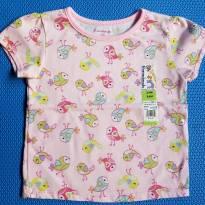Camiseta Passarinhos - 18 a 24 meses - Garanimals