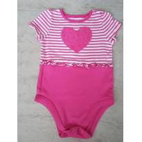 Body Coração Rosa - 18 a 24 meses - Garanimals