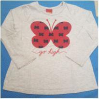 Camiseta Borboleta Vermelha - 3 anos - Kyly
