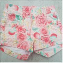 Shorts Jeans Flores - 24 a 36 meses - Malwee