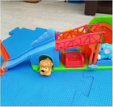 Parque Divertido Leão e Elefante - Sem faixa etaria - Happy kid Toy Group