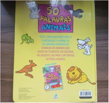 Livro: 50 Palavras Animais - Editora Libris - Sem faixa etaria - Não informada