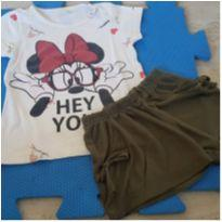Conjunto Minnie Verão - 4 anos - Disney e Brasileira