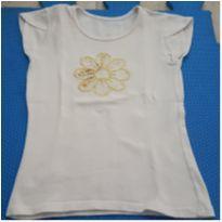 Camiseta Flor - 7 anos - Marisol