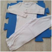 Pijama Canelado Branco - 4 anos - Nacional