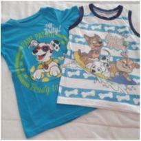 Duo de Camisetas Patrulha Canina - 6 anos - Importado EUA e nickelodeon