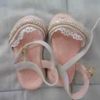 sandália branca com strass - 18 - Sem marca