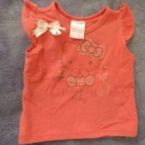Camisetinha Hello Kitty - 3 a 6 meses - Hello  Kitty